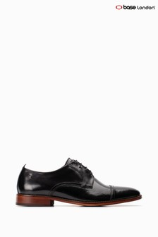 Base London® Black Trailer Toe Cap Derby Shoes