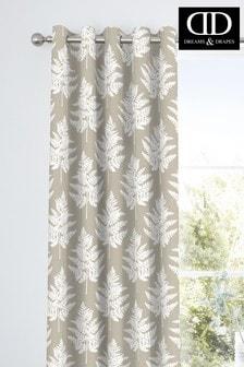 D&D Fern Botanical Print Eyelet Curtains