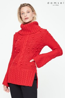 Damsel In A Dress Red Carley Chunky Jumper