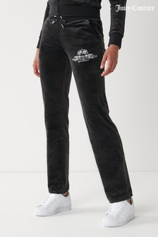 Juicy Couture Velour Anniversary Crest Joggers