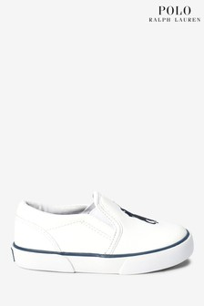 Ralph Lauren White Harbour Shoes