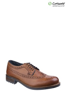 Cotswold Brown Poplar Brogue Dress Shoes