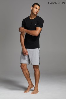 Calvin Klein Grey Branded Jersey Shorts