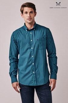 Crew Clothing Blue Marden Slim Shirt