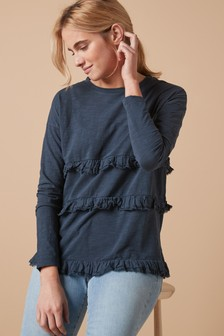 Long Sleeve Frill Top