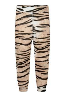 Girls Tiger Stripe Organic Cotton Joggers