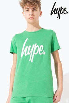 Hype. Green Hype Script Kids T-Shirt