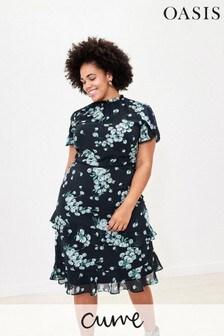 Oasis Blue Curve Dandelion Dress