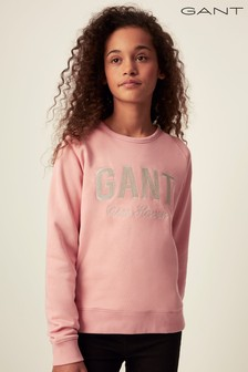 GANT Pink Shiny Crew Neck Sweater