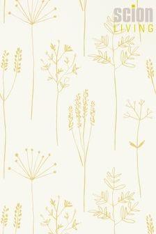 Scion Yellow Stipa Wallpaper