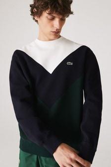 Lacoste® Chevron Block Sweater