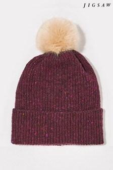 Jigsaw Pink Donegal Pom Hat