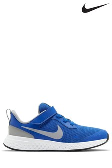 Nike Run Blue/Grey Revolution 5 Junior Trainers