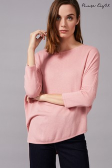 Phase Eight Pink Lia Split Detail Knit Jumper
