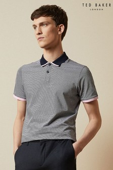 Ted Baker Caffine Striped Cotton Poloshirt
