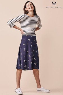 Crew Clothing Company Blue Fliss Skirt
