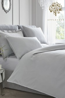 Appletree Piped Edge Cotton Duvet Cover and Pillowcase Set