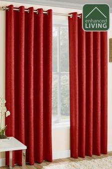 Enhanced Living Vogue Blackout Eyelet Curtains