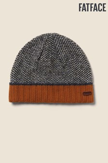 FatFace Mustard Turn-Up Beanie