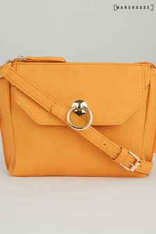Warehouse Yellow Ring Pocket Crossbody Bag