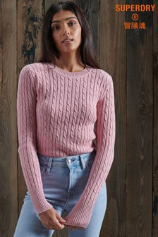 Superdry Pink Croyde Knit Jumper