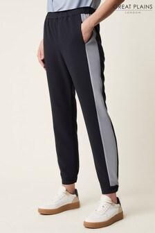 Great Plains Blue Cala Crepe Trousers