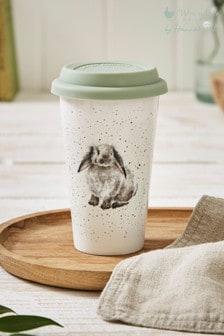 Royal Worceser Wrendale Rabbit Travel Mug