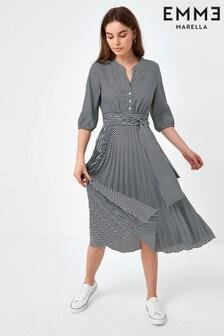 Emme by Marella Navy Stripe Itaca Midi Dress