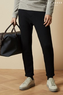 Ted Baker Navy Lunch Cotton Jogging Bottoms