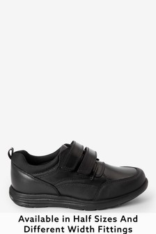 Leather Double Strap Shoes