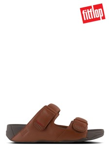 FitFlop™ Brown Gogh™ Moc Slide in Leather