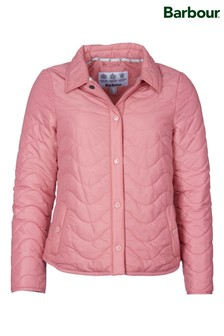 Barbour® Coastal Pink Wave Padded Albatross Padded Jacket