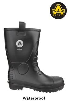 Amblers Safety Black FS90 Waterproof PVC Pull-On Safety Rigger Boots