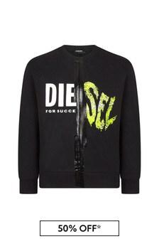 Diesel Black Cotton Sweater