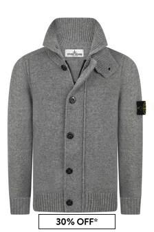 Boys Grey Knitted Cardigan