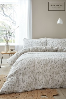 Bianca Akari Egyptian Cotton Duvet Cover and Pillowcase Set