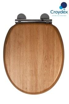 Croydex Hartley Light Oak Toilet Seat