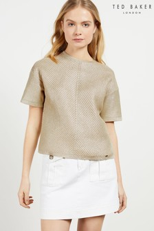 Ted Baker Giannaa Relaxed Metallic Knitted Top