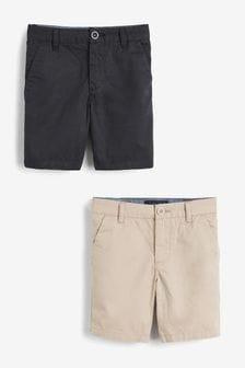 2 Pack Chino Shorts (3-16yrs)