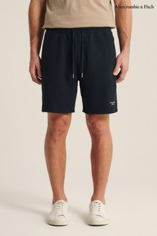 Abercrombie & Fitch Navy Logo Shorts