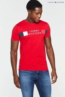 Tommy Hilfiger Stripe Branded T-Shirt