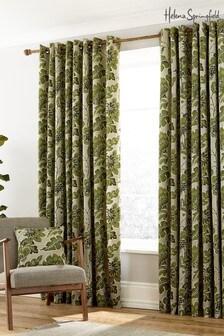 Helena Springfield Paloma Botanical Lined Eyelet Curtains