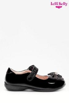 Lelli Kelly Black Patent Bow Shoes