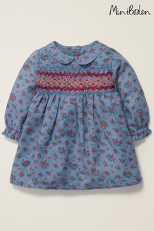 Boden Blue Nostalgic Smocked Dress