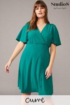 Studio 8 Green Hosana V-Neck Dress