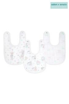 aden + anais Essentials Cotton Muslin Baby Snap Bibs Three Pack Disney™ Baby - Minnie Bubble