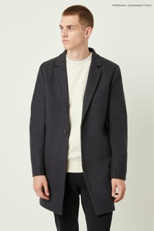 French Connection Grey Winter Melton Coat