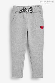 Sonia Rykiel Paris Grey Heart Logo Joggers