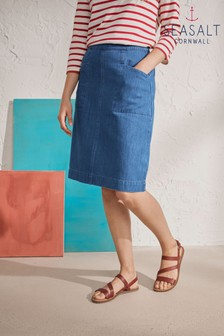 Seasalt Blue Pitching Skirt