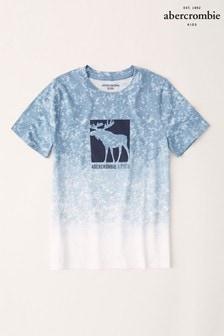 Abercrombie & Fitch Blue Dip Dye T-Shirt